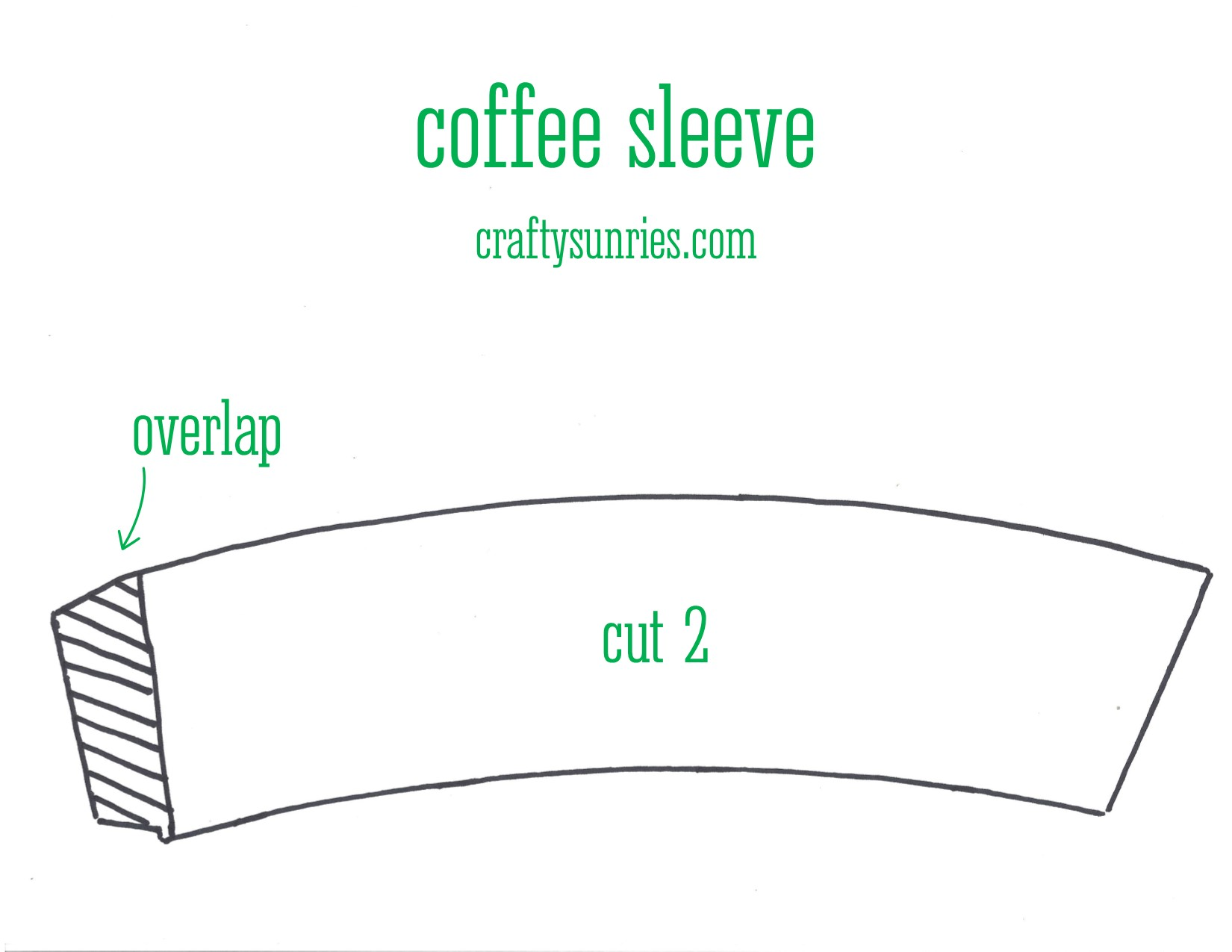 coffee sleeve pattern